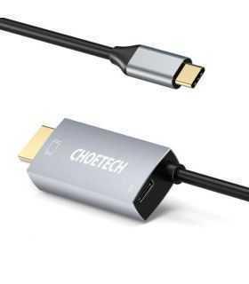 Cablu USB tip C - HDMI Choetech XCH-M180 PD 60W 1.8m negru