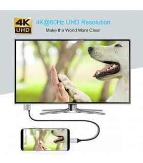 Cablu USB Type C - HDMI Choetech XCH-M180 PD 60W 1.8m negru
