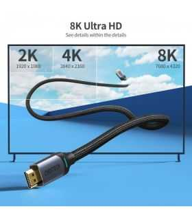 Cablu HDMI - HDMI 2m 8K60Hz 4K144Hz 2K165Hz Choetech XHH-01