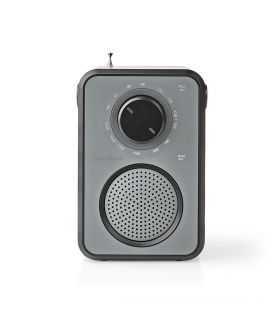 Radio FM Nedis 1.8W gri / negru maner de transport