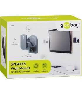 Suport universal pentru difuzor Goobay 2buc montare pe perete regblabil max. 3.5kg negru