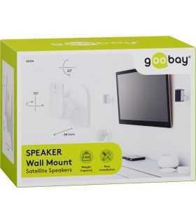 Suport universal 2buc pentru difuzor Goobay montare pe perete regblabil max. 3.5kg alb