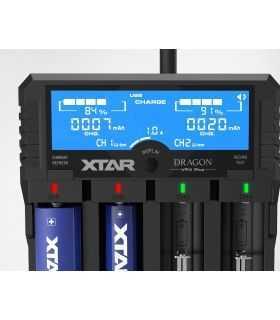 Incarcator universal 4x Li-ion/Ni-MH LCD VP4 PLUS XTAR