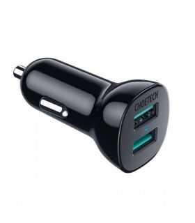 Incarcator auto Choetech C0051 QC 3.0 2x USB-A 30W