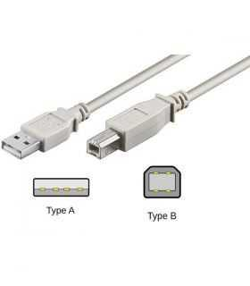 Cablu USB 2.0 A la USB B pentru impimanta 1.8m crem Micro Connect Gembird
