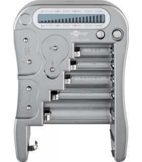 Tester baterii AAA AA C D 9V N Lady CR2 CR123A CR-P2 CR-V3 2CR5 cu ecran LCD Goobay