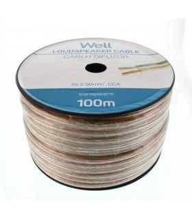 Cablu difuzor transparent 2x2.5mm Well