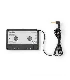 Adaptor caseta - Jack 3.5 mm tata negru NEDIS