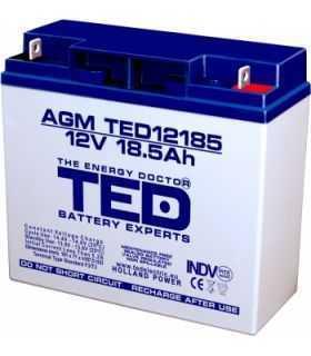 Acumulator TED 12V 18.5Ah AGM plumb acid terminal T3 181mm x 76mm x h167mm TED12185T3