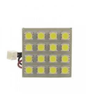 Placa LED SMD 35x35 mm 12V SMD5050 3W lumina alba 320lm inclus adaptoare W5W C5W BA9S CarGuard