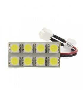 Placa LED SMD 30x15 mm 12V SMD5050 3W lumina alba 160lm inclus adaptoare W5W C5W BA9S CarGuard