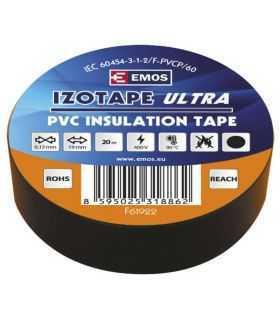 Banda izolatoare neagra 20m x 19mm rezistenta la UV -25 +90 C Emos