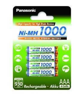 Panasonic acumulatori 4buc HighCapacity Ni-MH AAA (R3) 1000mA