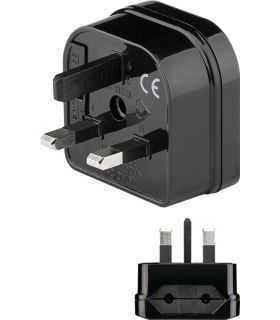 Adaptor UK ANGLIA - EURO 2 pini mama negru Goobay