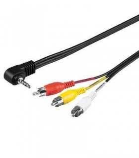 Cablu Jack 3.5mm 4 pini la 3x RCA 1.5m Goobay