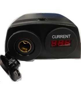 Ampermetru soclu bricheta auto x1 7-33VDC neagra SCI A13-144DA251BHD-BB3