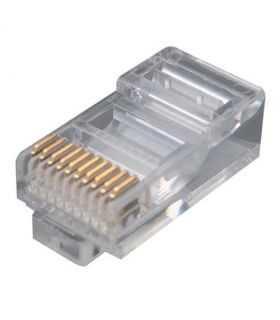 Mufa RJ50 tata 10 pini 10p10c pe cablu IDC de crimpat ENCITECH RJ48-10P10CR