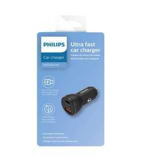 Incarcator auto USB-A SI USB TYPE C 36W 12–24VDC PHILIPS DLP2521
