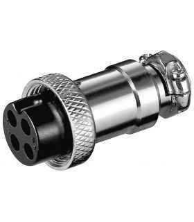 Mufa XLR mama pentru microfon Jack 4 Pin Goobay 11230