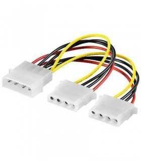 Cablu adaptor molex 5.25 la 2x5.25 molex 15cm Goobay