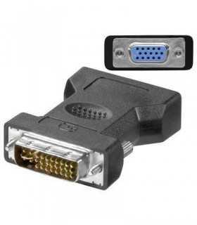 Adaptor DVI-I 24+5 la VGA mama Goobay