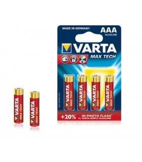 Baterii alcaline AAA Varta Max Tech 4buc