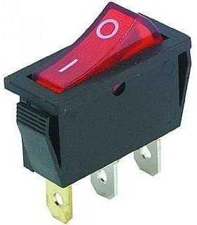 Intrerupator 3 poli 1 buton rosu ON-OFF 250V 15A cu retinere