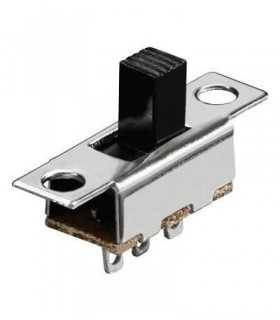 Comutator glisant 1x UM 3 pini 11.4x6mm ON-ON Goobay