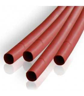 Tub termocontractabil 2.5mm/ 1.25mm rosu 0.5m Kemot