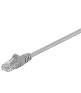 Cablu UTP 3m patch cord retea CAT5e CCA 2x RJ45 neecranat gri Goobay