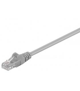 Cablu UTP 50m patch cord retea CCA CAT5e 2x RJ45 neecranat gri Goobay