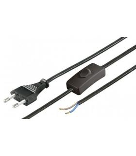 Cablu alimentare Euro 1.5m 2 fire cu intrerupator Goobay