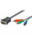 Cablu VGA la 3x RCA RGB 2m Goobay