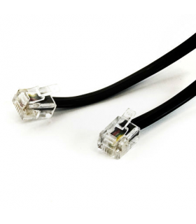 Cablu telefon RJ11 6P4C negru 2m EDC