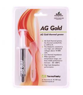 Pasta termoconductoare pe baza de aur AG Gold 2.8 W/m.K. 3gr AG TermoPasty