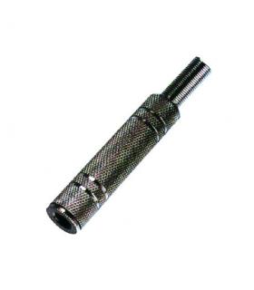 Mufa Jack 6.3 mm stereo metal pe cablu nichelat