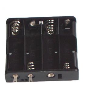 Suport baterie 4x AA cu contacte pentru lipire