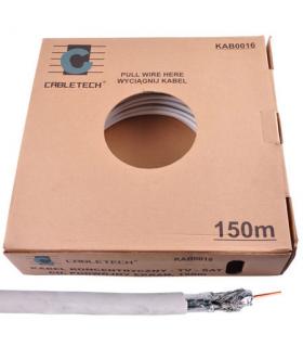 Cablu coaxial dublu ecranata miez cupru 100m Cabletech