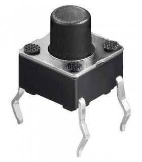 Buton microcontact 4 pini OFF-ON fara retinere 6x6mm buton 4mm de la PCB 7mm