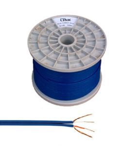 Cablu 2x RCA 3mm albastru 100m