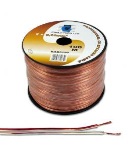 Cablu difuzor 2x0.20mm cupru transparent 1m Cabletech
