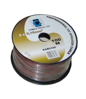 Cablu difuzor rosu/negru 2x0.20mm cupru 1m Cabletech