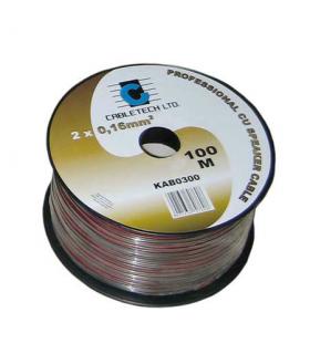 Cablu difuzor negru 2x0.5mm cupru 1m Cabletech