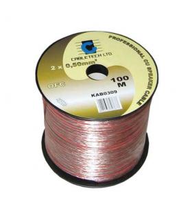 Cablu difuzor OFC cupru 2x0.5mm transparent 1m Cabletech