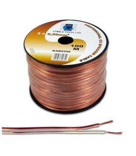 Cablu difuzor 2x1mm cupru transparent 1m Cabletech