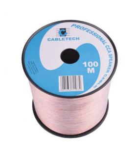 Cablu difuzor CCA 2x0.50mm transparent 100m Cabletech