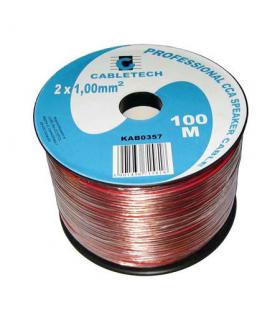 Cablu difuzor CCA 2x1mm transparent 100m Cabletech