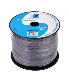 Cablu difuzor CCA 2x0.35mm negru Cabletech