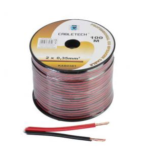 Cablu difuzor cupru 2x0.35mm rosu/negru 1m Cabletech