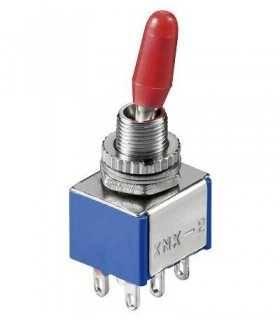 Comutator 2x ON-ON 6 pini 12.5X11.5x8.5mm Goobay